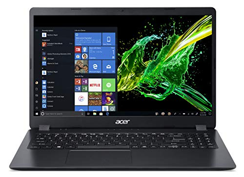 Acer Aspire 3, Notebook 15.6'' HD, Processore AMD Ryzen 3 3200U, 8 GB RAM, 256GB SSD, Windows 10 Home, Nero