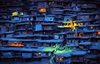Bcbfgfdgbz クロスステッチキット刺繍キット DIY 手作り - 14CT プレプリント刺繡工芸品のフルレンジを初心者向けマルチカラーパターンスターターキット室内装飾40×50cm ハウスライト