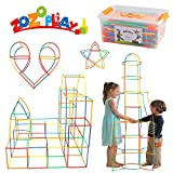 ZoZoplay Straw Constructor STEM Building Toys 400 Piece Straws and Connectors Building Sets Colorful Motor Skills Interlocking Plastic Engineering Toys Best Educational Toys Boy & Girl…