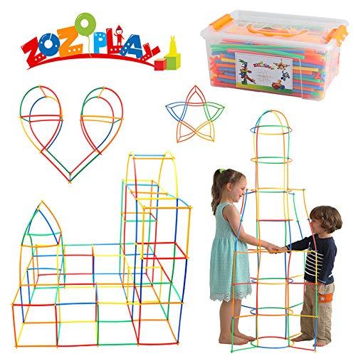 ZoZoplay Straw Constructor STEM Building Toys 400 Piece...
