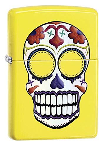 Zippo Day Dead Skull Lighter Lemon - Pastilla de Encendido para Acampada, Color Beige, Talla UK: 6x4