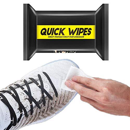 FBGood Cleaning Wipes Kicks Shoe Wipes feuchte Reinigungstücher für Sneaker Schuhe Kleidung, Glatte & strukturierte Seite für groben Schmutz (30 Teile/Beutel)