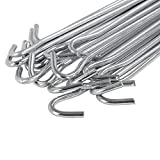 Yaheetech 20 x Heringe 30 cm Zeltnägel Zeltheringe Erdnägel Stahl verzinkt