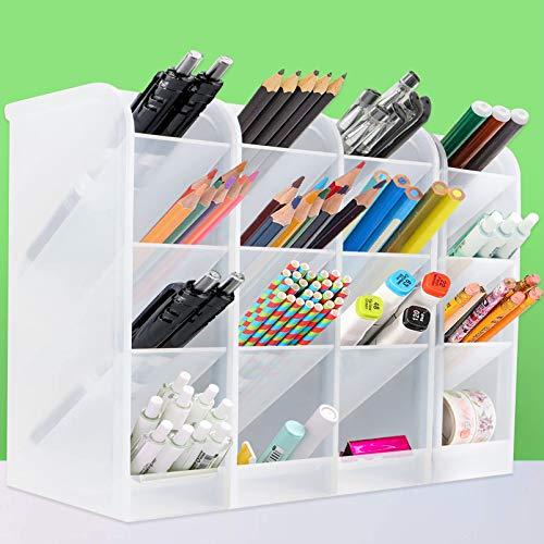 4 pcs Organizador de escritorio,lapiceros para escritorio,compartimentos Soporte para bolígrafo,Soporte para bolígrafo de Escritorio,Portalápices Multifuncional,Organizador de Pluma (1)