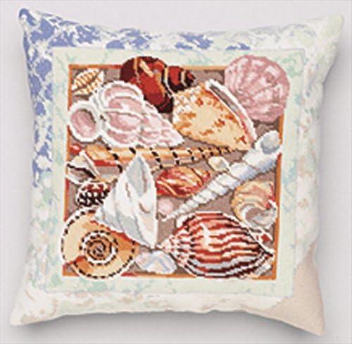 Janlynn Seashells Over item handling Pillow Top Needlepoint Mesh Kit 12 14
