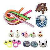 Juego de 32 juguetes inquietantes de material de alta calidad y duradero, juguete antiestrés, tamaño en bolsillo y portátil, juguete para apretar para niños y adultos, TDAH