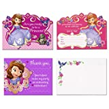 Hallmark Sofia The First Invitations / Thank You Post Cards w/ Envelopes (8ct Each)