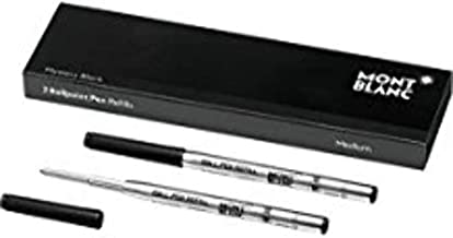 Montblanc Ballpoint Pen Refills (M) Refill Cartridges with a Medium Tip for Montblanc Ball Pens / 2 x Purple Ballpoint Refills 6.1 x 0.4 x 0.4 inches Mystery Black
