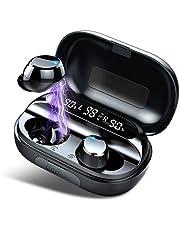 Słuchawki Bluetooth, IPX7, wodoodporny zestaw słuchawkowy stereo, 150 h, bezprzewodowy, 3500mAh, ładowanie w etui, sportowy zestaw z mikrofonem, do biegania/grania/pracy
