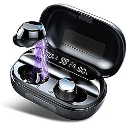 Affichage de puissance précis et apparence exquise: Les vrais ecouteur wireless S20 utilisent la technologie d'affichage LED exclusive pour blood pressure afficher avec précision la batterie restante des écouteurs et du boîtier de charge. Le look est...