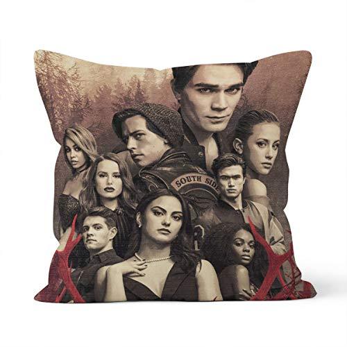 Federa decorativa a tema poster serie TV RIVERDALE, adatta per federa auto camera da letto di casa taglia 40x40cm