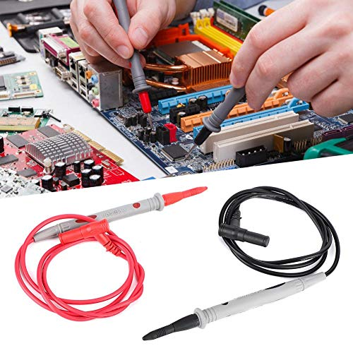 夏の楽しみマルチメータテストプローブ、PT1006デジタルマルチメータニードルチッププローブペン+ 1000V 20Aテストリードケーブル90cm
