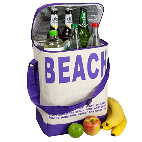 Glorytec Sac Isotherme Grande Pourpre - XXL Lunch Box 28 x 18,5 x 35cm - 20 litres - Sac Repas Pour Enfant Travail Pique-Nique