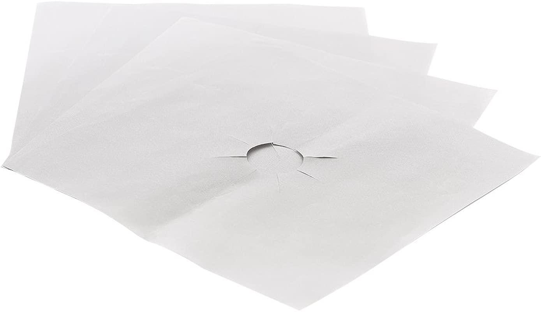 RONSHIN Home 4 8 12 24pcs Reusable Aluminum Foil Gas Stove Burner Cover Protector Liner Clean Mat Pad 4pcs