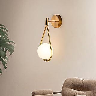 LED Doré Applique Murale Ajustable D'angle Installer Moderne D'intérieur Industriels Rétro Lampe Murale, éLégante Verre Bo...