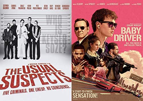 Kevin Spacey's The Boss + Possibly Acting Inappropriately: The Usual Suspects + Baby Driver 2 Movie Bundle DVD