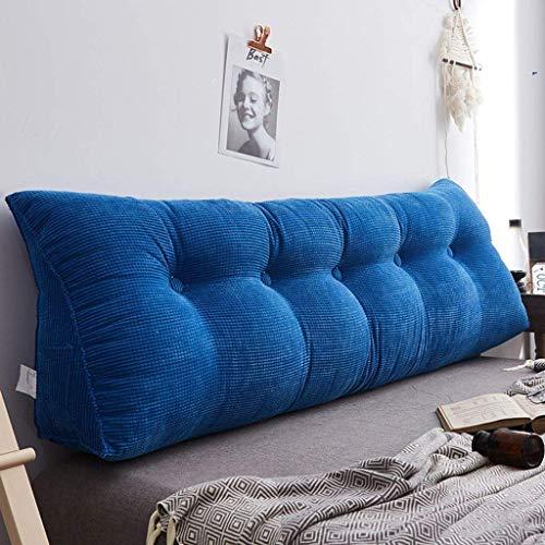 Almohadas de lectura Cojín de almohada de cuña, lectura triangular almohada Cabecera Atrás Cojín suave tapizado Lumbar Pad Lumbar Sofá Sofá Silla de oficina para dormitorio (color: AI, Tamaño: 200x25x