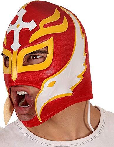 Atosa-97988 Máscara Luchador Enmascarado Mexicano, Color Rojo (9Y-BDRV-ITSM)