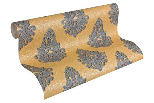 Architects Paper behang Nobile klassiek patroon behang gestructureerd crème metallic, wit, 959811 goud (959814) grijs, koper, metallic