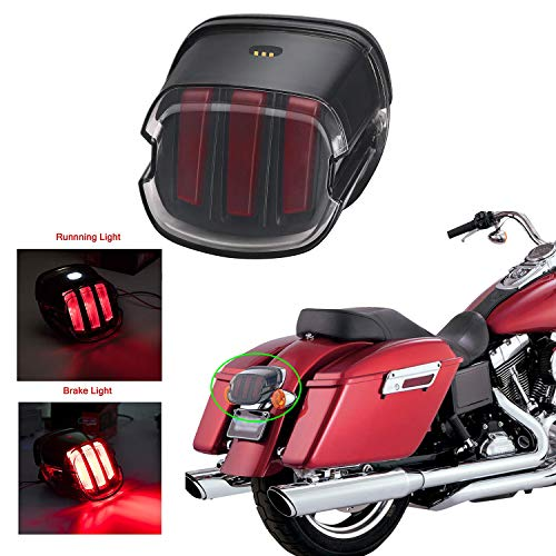 Luce targa fanale posteriore affumicata per luce targa Harley Dyna Fatboy Road King Electra Glide Nightster Street Bob