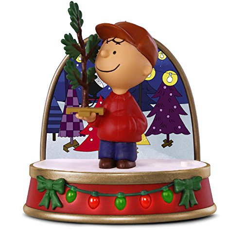 Hallmark Keepsake Christmas Ornament 2018 Year Dated, Peanuts A Charlie Brown Christmas Tree Charlie Brown With Sound and Light