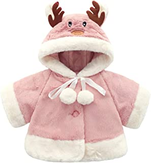 Fairy Baby Toddler Baby Girls Winter Thick Outwear Cute Deer Fleece Jacket Outfit