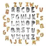 26 Alfabeto Taglierine, Stampo Per Biscotti Di Forma Lettere Dell'alfabeto A-z, Tagliabiscotti, Acciaio Inossidabile Alfabeto Stampini, Perfetti Per Biscotti Fondenti, Torte, Frutta, Verdura, Pasta