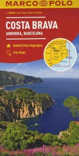 MARCO POLO Karte Costa Brava, Andorra, Perpignan, Barcelona 1:200 000: Wegenkaart 1:200 000 (MARCO POLO Karten 1:200.000)