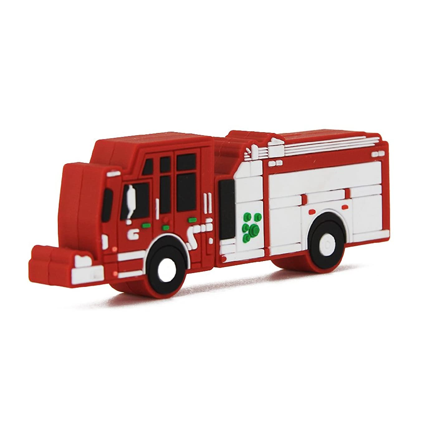 Usbkingdom 64GB USB 2.0 Flash Drive Cartoon Red Fire Truck Shape Pen Drive Memory Stick Thumb Drive Jump Drive Pendrive Flash Disk aae5931331