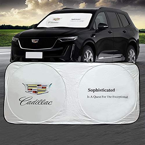 Cadillac Car Windshield Sun Shade Front Window Windshield Blocks UV Rays Sun Visor Protector Sunshade fit for Cadillac Escalade ct6 ct5 ct4 xt4 xt5 xt6 xts cts ATS