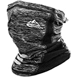 Face Mask Neck Gaiter, Bearthable Face Coverings for Men & Women, Reusable Scarf Cloth Mask for UV Sun Dust Protection