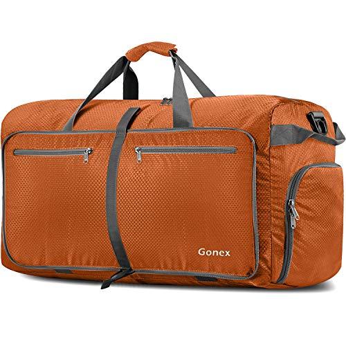 Gonex 150L Travel Duffel Bag Foldable Extra Large Duffle Bag XL Heavy Duty for Men Women for Luggage Shopping Orange