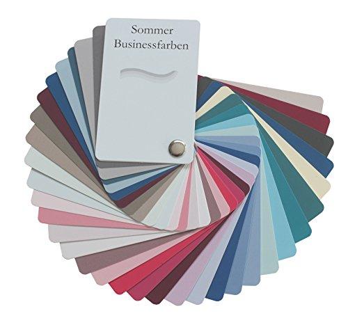 Farbpass Business Sommer (cool Summer) als Fächer mit 34 typgechten Farben zur Farbanalyse, Farbberatung