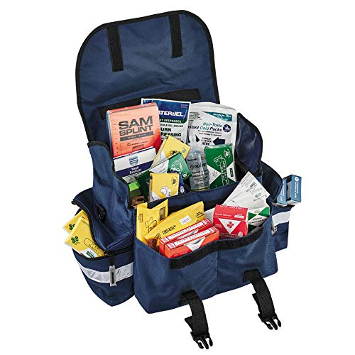 Ergodyne Arsenal 5210 Responder Compact Trauma Bag, Blue with Class B First Aid Kit Supplies Included