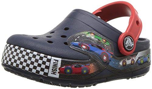 Crocs Crocband Fun Lab Lights Clog Kids, Unisex Niños Zueco, Azul (Navy), 32-33 EU