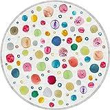 Vilber Kids. Alfombra Vinilo Infantil Multicolor. Dots DU-20. Redonda. Diámetro 52 cm (Dots Color 20)