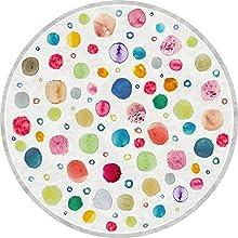 Vilber Kids. Alfombra Vinilo Infantil Multicolor. Dots DU-20. Redonda. Diámetro 97 cm