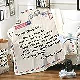 HYISHION Coperta Personalizzabile| Coperta da Tiro con Lettera Personalizzata con Messaggio per Figlio Figlia| Coperta di Pile Scaldotto Caleffi Coperta Matrimoniale,#1,150 * 200cm