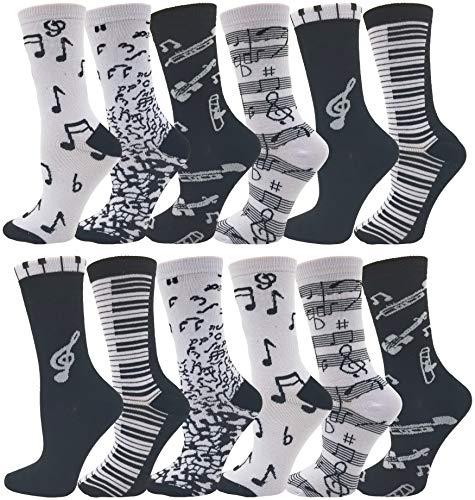 Novelty Music Note Socks