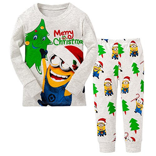 AMGLISE Little Boy Merry Christmas 2 Piece Pajamas Set 100%...