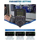 VISLONE Osciloscopio digital inteligente 2 en 1 Multímetro DC/AC Resistencia de voltaje de corriente Probador de diodos de frecuencia (Versión mejorada)