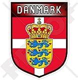 DÄNEMARK, Dänisches Schild, Dänemark 100mm Auto & Motorrad Aufkleber, Vinyl Sticker