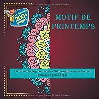 Motif de printemps Livre de coloriage pour adultes 200 pages - La saveur du pain partagé n'a point d'égal. (Mandala)