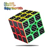 EnYL Rubiks Cube,Speed Cube 3x3x3 Rubix Cube, Smooth Carbon Fiber Sticker,The Tutorial is Included Inside.