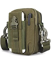 SUMAX Tactical Molle Pouch Waist Belt Fanny Pack Compact Water-Resistant Tool EDC Utility Gadget Bag Adjustable for Phone Outdoor Hiking & Travel, Green