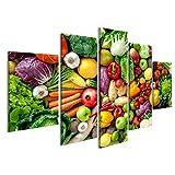islandburner Quadri Moderni Assortimento di Frutta e Verdura Fresca Stampa su Tela - Quadro x poltrone Salotto Cucina mobili Ufficio casa - Fotografica Formato XXL