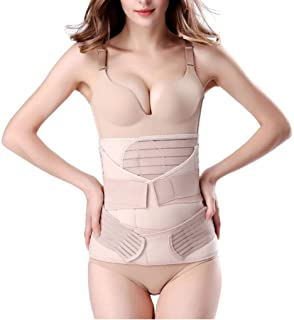 Recovery Belly Wrap Waist,Postpartum Support Recovery Belt, Pelvis Girdles Belt Body Shaper, Women Postpartum Girdle Recovery Belly, with Band Wrap Belt 3 in 1 set