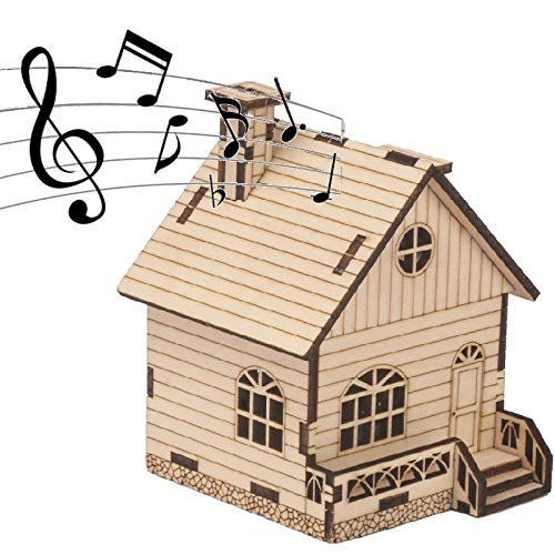 Save %67 Now! 3D Wooden Puzzle Music Box - Three-Dimensional Puzzle DIY Music Box Kits DIY Model Bui...
