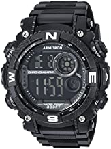 Armitron Sport Men's 40/8284BLK Digital Chronograph Black Resin Strap Watch