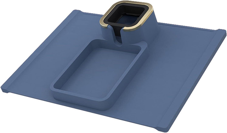 Posavasos para sofá, soporte de silicona y bandeja para sofá, reposabrazos, soporte de taza antideslizante, funda de ajuste incluida. Ideal para uso en interiores o exteriores